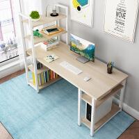 【限时直降3折】电脑桌台式家用书桌书架组合简易写字桌现代简约办公桌卧室小桌子