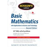 英文原版 科学与技术应用基础数学概论 Schaum's Outline of Basic Mathematics wi