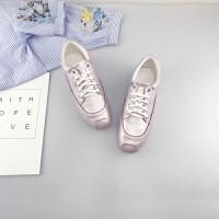 小白鞋女2019秋季新款百搭韩版学生休闲鞋潮女板鞋平底鞋女单鞋夏季百搭鞋 粉色 偏小半码