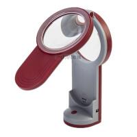 OUJIN led台灯放大镜 手持台式带照明灯放大镜USB电源直充台灯看书灯工作台灯放大镜