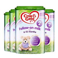 【2段】英国直邮/保税仓发货 英国Cow&Gate牛栏 婴幼儿奶粉 二段(6-12个月) 800g*4罐 海外购