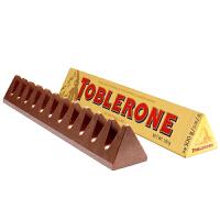 瑞士三角 瑞士进口 牛奶巧克力含蜂蜜及巴旦木糖 100g 休闲零食