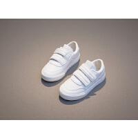儿童小白鞋白色鞋子女童纯色运动鞋中大童休闲旅游鞋