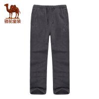 camel/小骆驼童装儿童户外保暖抓绒裤青少年长裤 男女童运动宽松裤