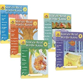 Evan-Moor Stories To Read Words to Know F-J 美国加州儿童教辅 英语阅读学词汇系列 5册套装下 适合7-9岁 英文原版图书进口