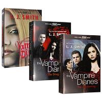 华研原版 吸血鬼日记英文原版小说系列三本 1-4套装 The Vampire Diaries 觉醒 挣扎 愤怒和黑暗归
