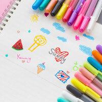 日本SAKURA樱花立体绘画笔diy相片黑卡纸彩色笔学生手绘用高光画画可爱小清新手账陶瓷贺卡玻璃指甲果冻笔