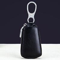 莫尔克(MERKEL)新款简百搭情侣真皮汽车钥匙包男士拉链钥匙包女士牛皮锁匙包