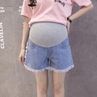 夏季外穿流苏宽松孕妇打底裤托腹夏装裤子薄款夏季潮孕妇牛仔短裤