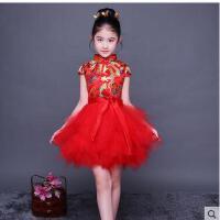 儿童旗袍新款女童唐装宝宝公主裙中国风童装女孩古筝演出服儿童服装支持礼品卡支付