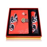 礼品套装创意套装定制logo*盒商务办公礼品周年感恩教师节礼物 国粹脸谱 本+鼠标垫
