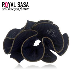 皇家莎莎RoyalSaSa手工布艺发圈韩式盘发头花发绳发饰韩国扎马尾皮筋头绳