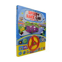 Steering Wheel Speedy Race Car 方向盘玩具 儿童汽车故事玩具书 赛车故事英语发声纸板书