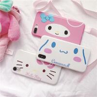 可爱美乐蒂大耳狗苹果xs max手机壳iphone8plus全包硅胶7P/6S女款 xr 横版 凯蒂猫