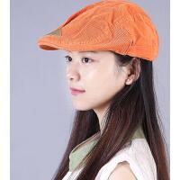 韩版时尚贝雷帽画家帽 户外男女通用英伦纯棉鸭舌帽