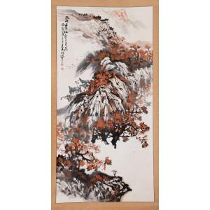中国国画艺术家 秦岭云《霜叶红于二月花》