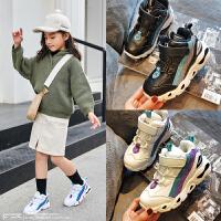 女童运动鞋加绒休闲男童鞋儿童