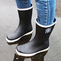 春秋雨鞋男女中筒平底水鞋低帮防滑马丁雨靴韩国透气雨鞋女学生