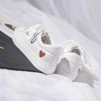 小白鞋女春秋新款百搭韩版休闲鞋平底系带运动鞋学生板鞋透气白鞋