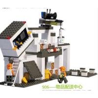 小鲁班积木城市救援队大楼拼装积木玩具儿童拼接玩具