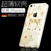 【包邮】苹果iphone5c手机套 苹果5C手机壳 苹果 iPhone5c软硅胶防摔卡通创意女款潮壳