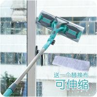 多用伸缩杆可拆擦玻璃器长柄玻璃清洁工具玻璃刮水擦窗器