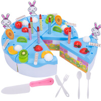 切切乐切切看蛋糕玩具46件套切水果女孩儿童过家家厨房玩具套装