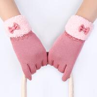手套女冬可爱韩版冬季手套女学生 加厚保暖加绒骑车开车保暖手套