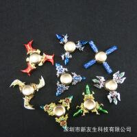 新款王者荣耀系列指尖陀螺金属手指陀螺三叶钛合金旋转陀螺玩具 减压模具