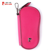 皮尔卡丹pierrecardin女士短款牛皮钥匙包礼盒PEA697032R玫红