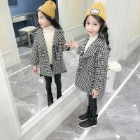 2018新款儿童小女孩厚呢子大衣韩版童装女童洋气毛呢外套秋冬装