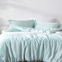 60支天丝四件套欧式冰丝裸睡双面丝滑床单笠被套床上用品