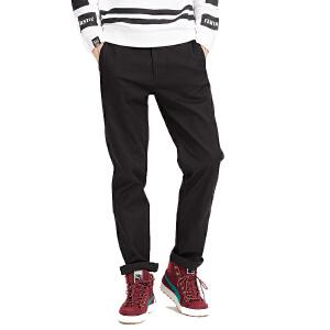美特斯邦威男肌理感基本直筒梭织长裤