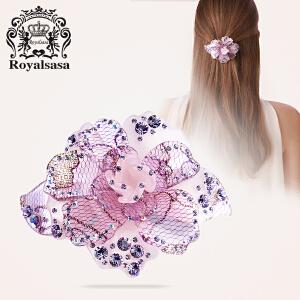 皇家莎莎RoyalSaSa韩版头饰时尚亚克力人造水晶横夹发夹发饰-蕊之魅恋