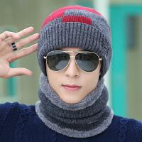 男士套头帽子防风冬季脖套围脖护耳毛线帽保暖