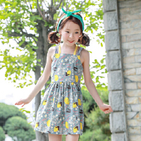 夏装新品童装韩版女童度假连衣裙儿童吊带童裙