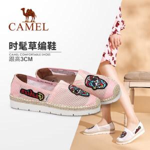 Camel/骆驼女鞋 2018春季新款 时尚透气平底单鞋学生休闲渔夫鞋女