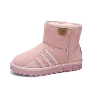 camel 骆驼女鞋 冬季新款 简约百搭中帮雪地靴 舒适保暖女靴