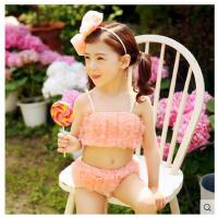 儿童游泳衣泳装韩国 配泳帽女童宝宝泳装可爱比基尼泳衣儿童  可礼品卡支付