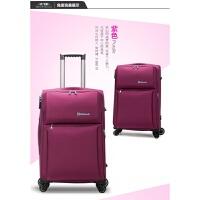 手拉箱 万向轮拉杆箱牛津布软箱旅行箱包行李箱女男学生登机箱包 紫红色 8807紫色