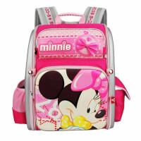 迪士尼女童背包 TGMB0242��包 ��意米奇休�e包 粉色旅行�p肩包