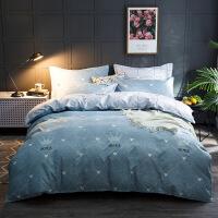 【人气】放心购 北欧简约四件套全棉纯棉床上用品全套1.5/1.8米被套学生床套件