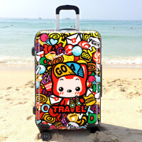 2018新款品牌旅行箱万向轮可爱卡通旅行箱 28寸 阿狸香港 28寸