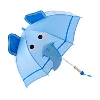 Hape戏水象儿童伞1-6岁蓝色儿童雨伞早教益智益智游戏E8370
