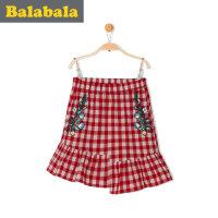 巴拉巴拉童装女童短裙2017夏季新款幼童宝宝半身裙休闲女