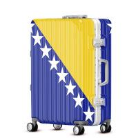 2018新款子母箱蓝色星星行李箱万向轮密码箱20登机箱24个性拉杆箱包