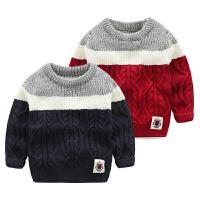 宝宝毛衣秋冬男童套头针织衫小童洋气上衣儿童毛线衣
