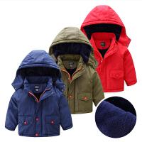 连帽儿童棉衣宝宝棉袄冬装童装男童保暖外套