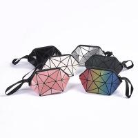 零钱包女迷你 速卖通新款简约日韩手拿包包女菱格几何包
