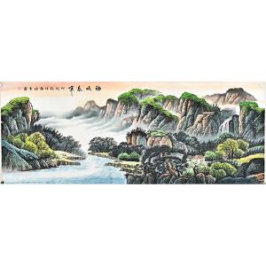 当代实力派画家张临光小六尺山水画 gs01073